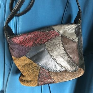 90s Crossbody Patchwork Leather Purse Neutral
